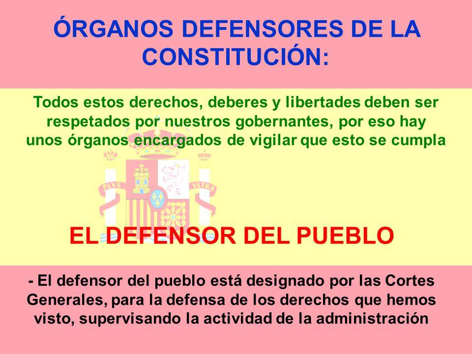 ÓRGANOS DEFENSORES DE LA CONSTITUCIÓN: