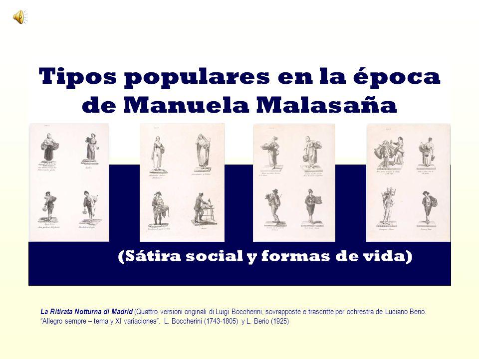 Tipos populares en la época de Manuela Malasaña