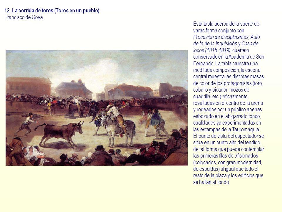 12. La corrida de toros (Toros en un pueblo)