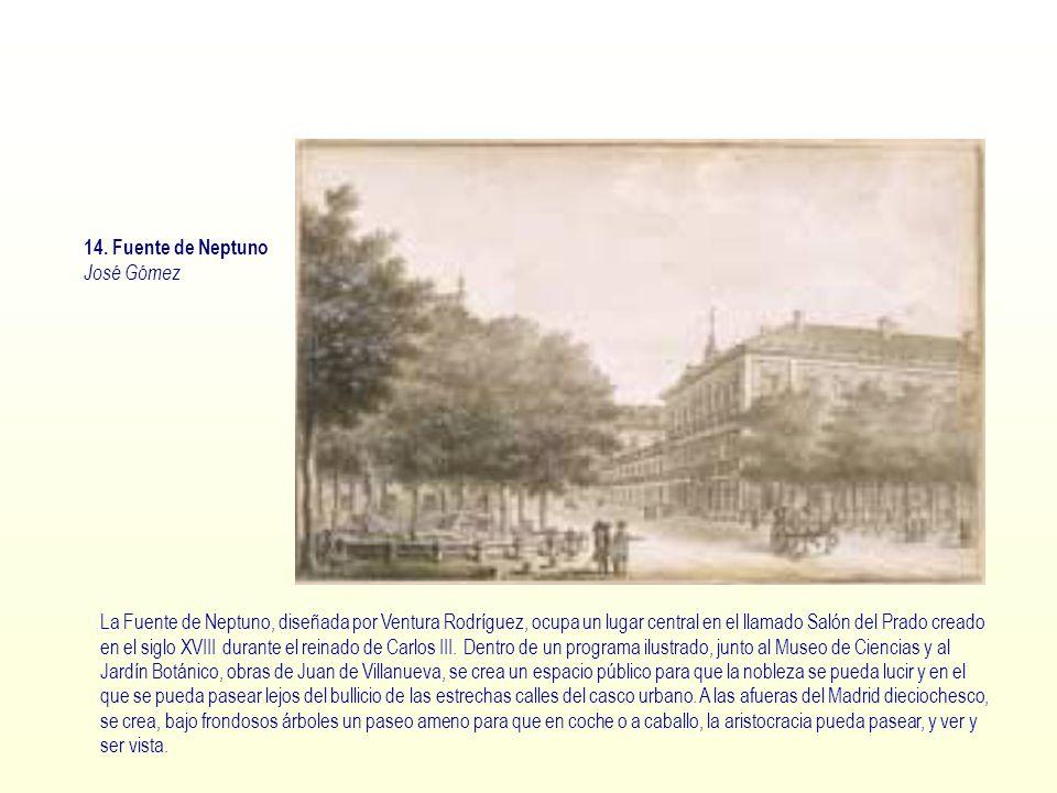 14. Fuente de Neptuno José Gómez.