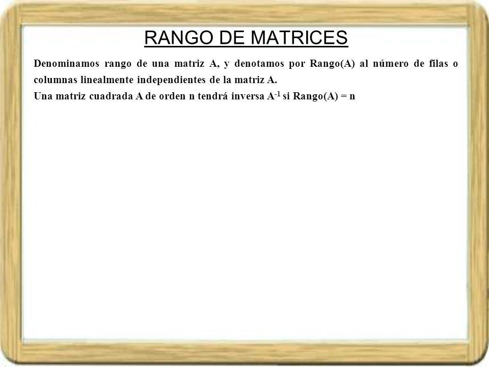 RANGO DE MATRICES