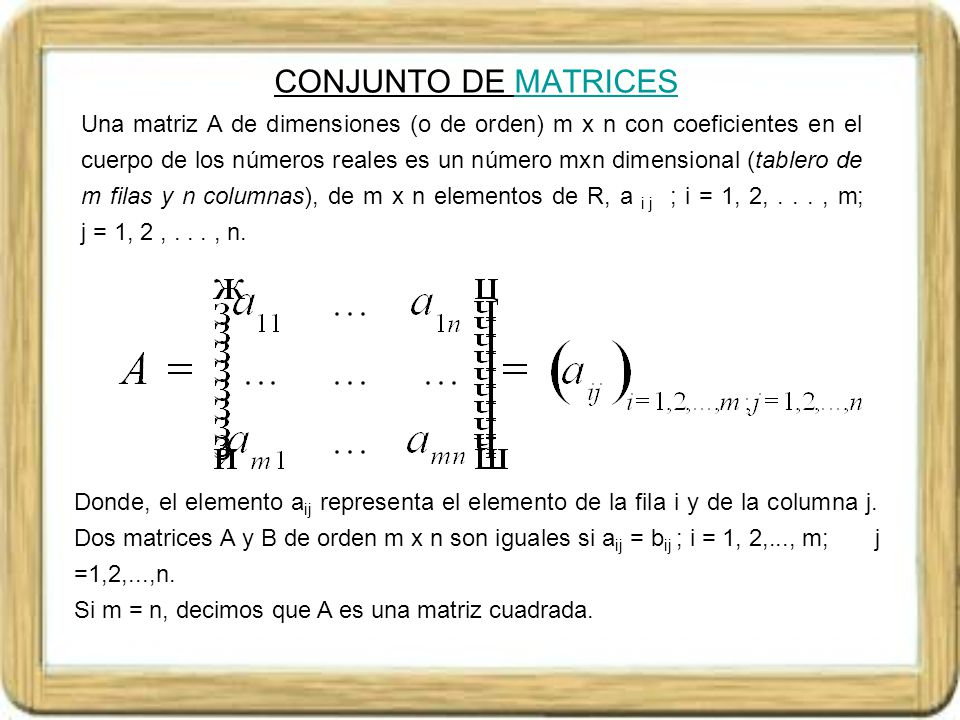 CONJUNTO DE MATRICES