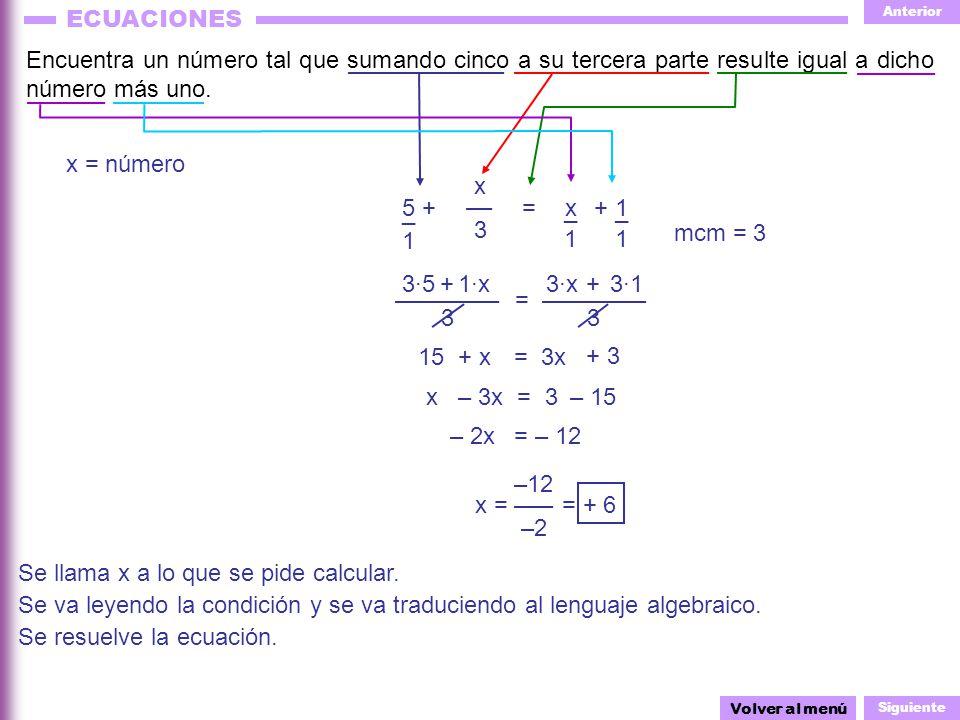 Se llama x a lo que se pide calcular.