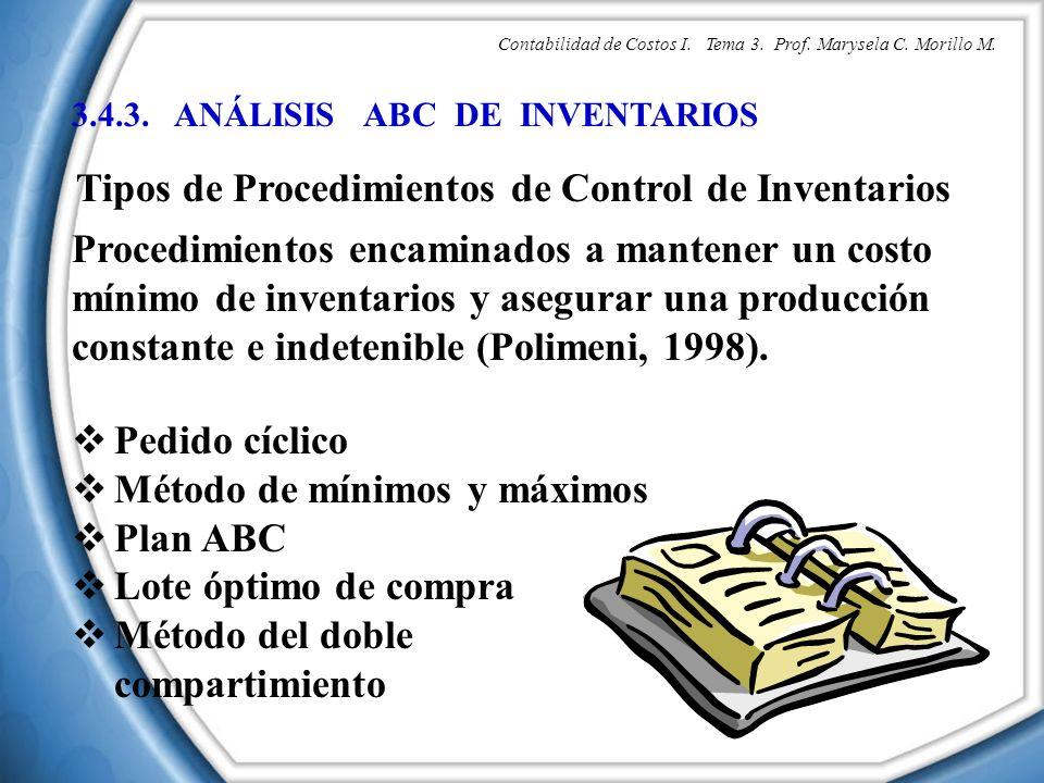 Tipos de Procedimientos de Control de Inventarios