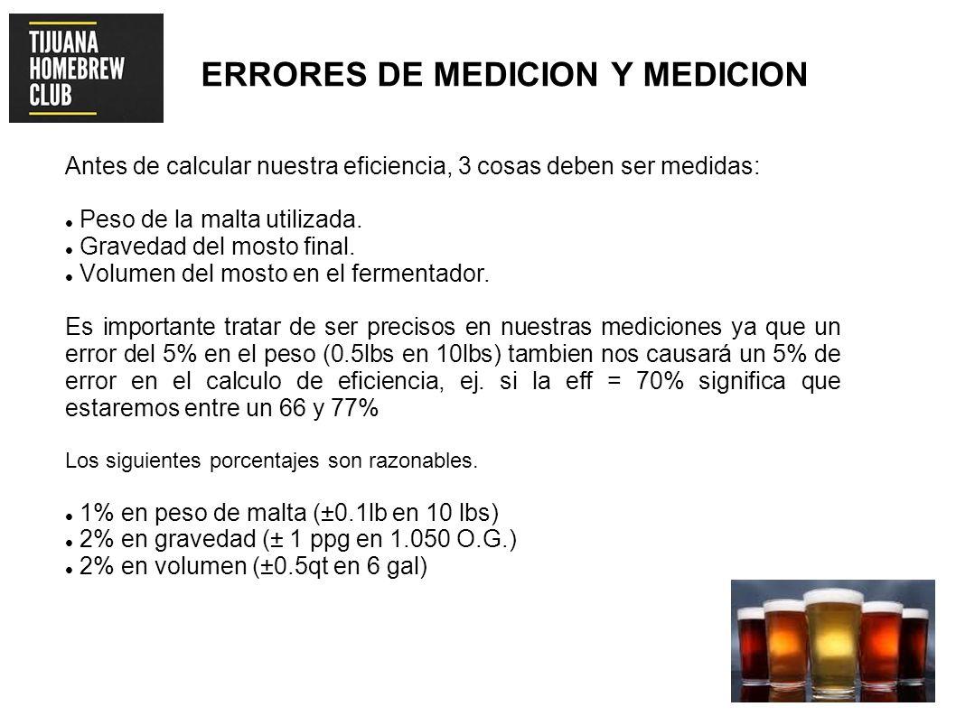 ERRORES DE MEDICION Y MEDICION