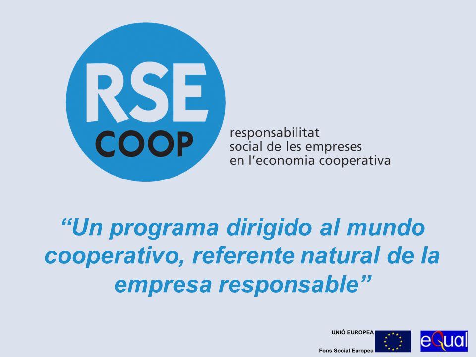 23/03/2017 Un programa dirigido al mundo cooperativo, referente natural de la empresa responsable