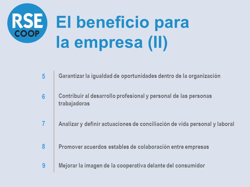 El beneficio para la empresa (II)