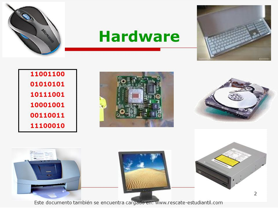 Hardware11001100.01010101. 10111001. 10001001. 00110011.