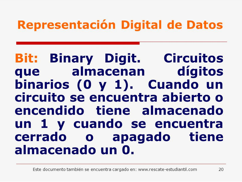 Representación Digital de Datos