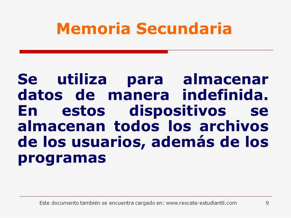 Memoria Secundaria