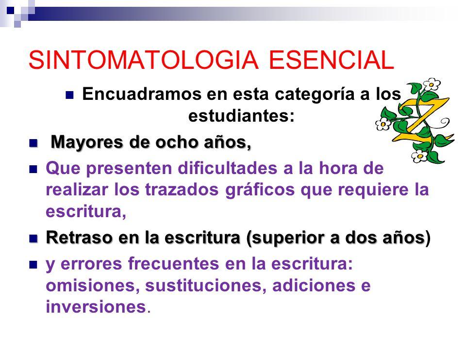 SINTOMATOLOGIA ESENCIAL