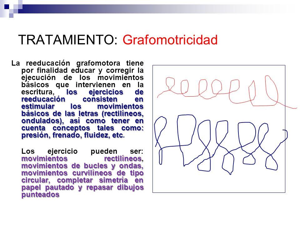 TRATAMIENTO: Grafomotricidad