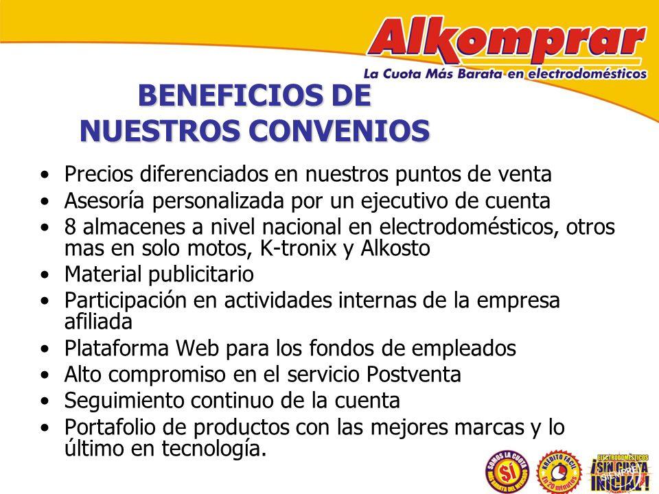 BENEFICIOS DE NUESTROS CONVENIOS