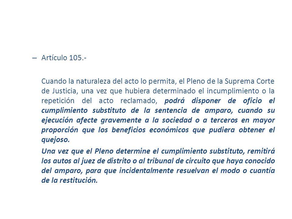 Artículo 105.-