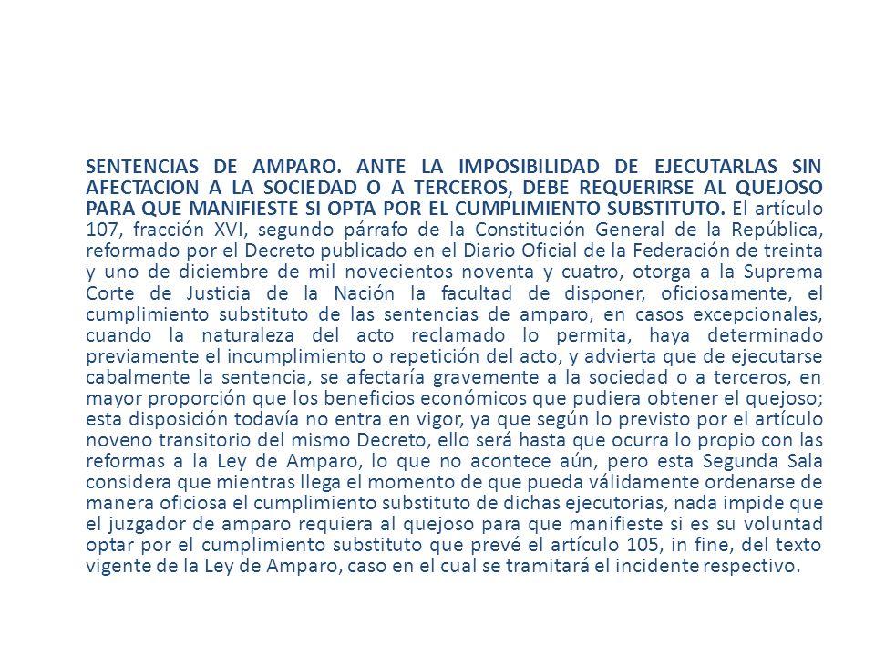 SENTENCIAS DE AMPARO.