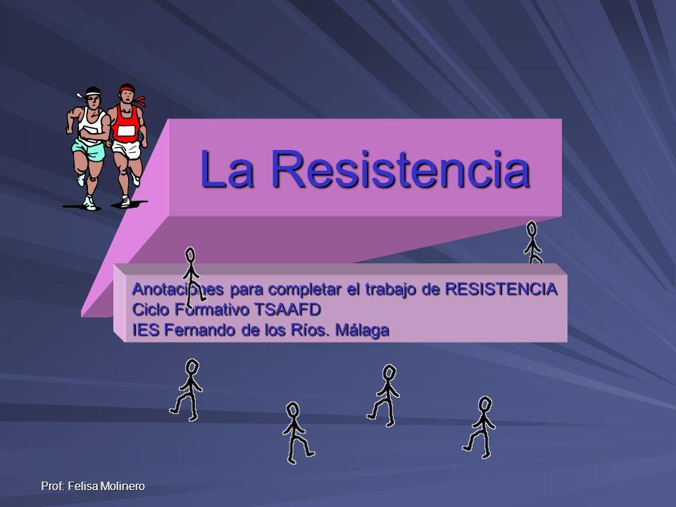 La Resistencia Anotaciones para completar el trabajo de RESISTENCIA