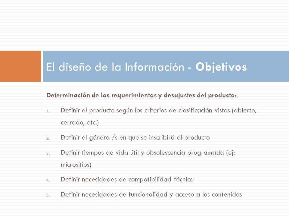 El diseño de la Información - Objetivos