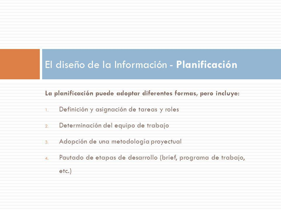 El diseño de la Información - Planificación