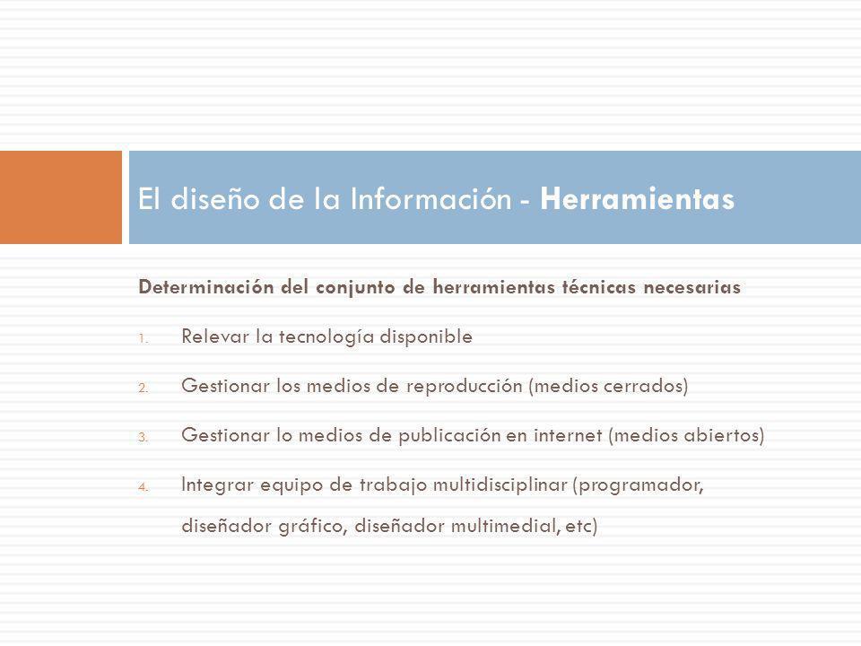 El diseño de la Información - Herramientas