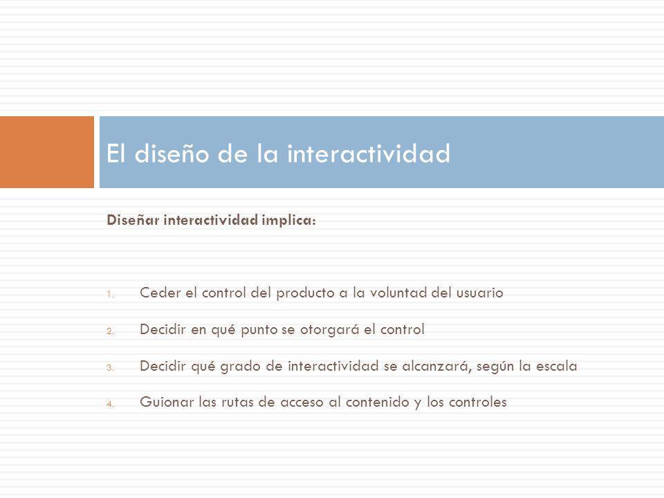 El diseño de la interactividad