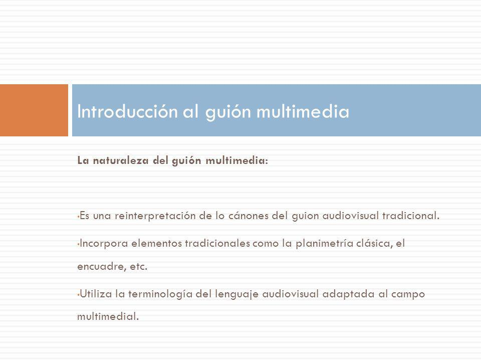 Introducción al guión multimedia