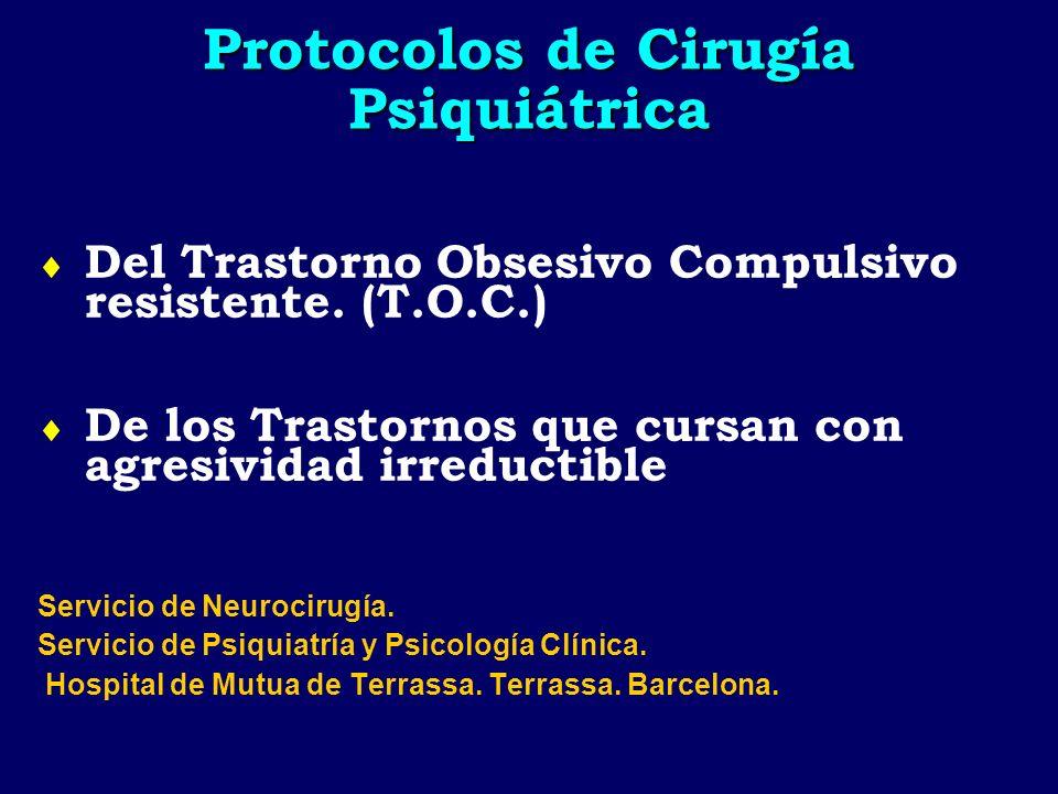 Protocolos de Cirugía Psiquiátrica