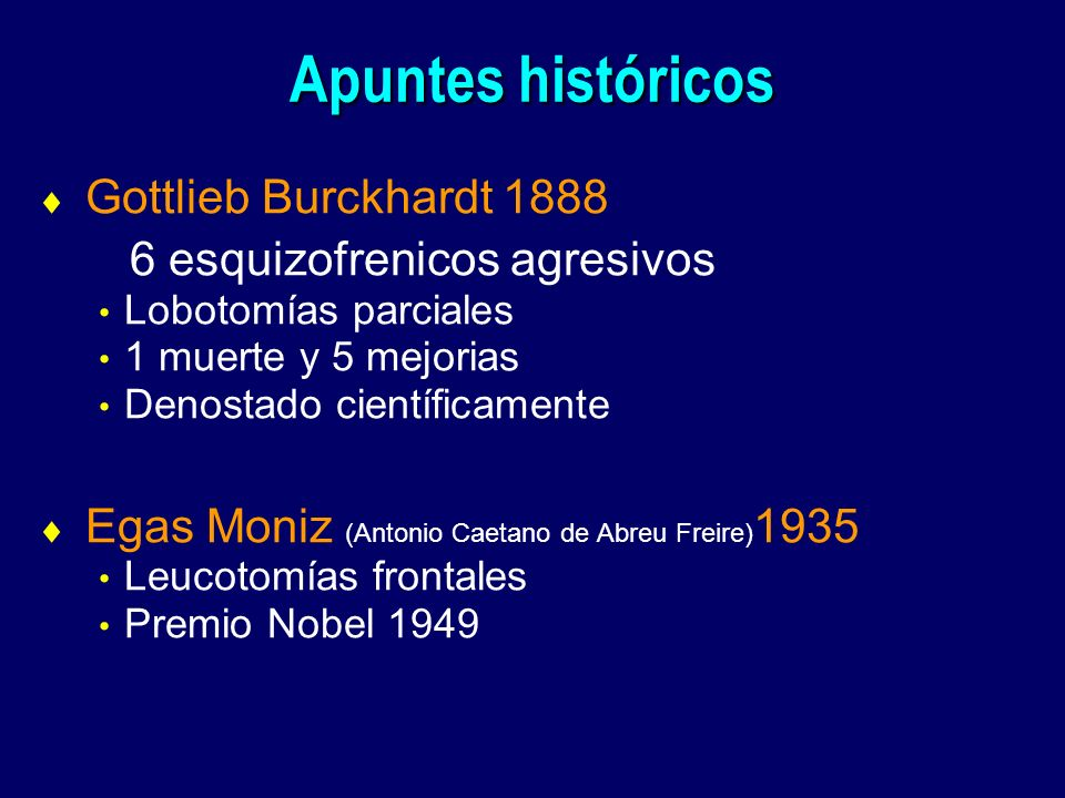 Apuntes históricos Gottlieb Burckhardt 1888