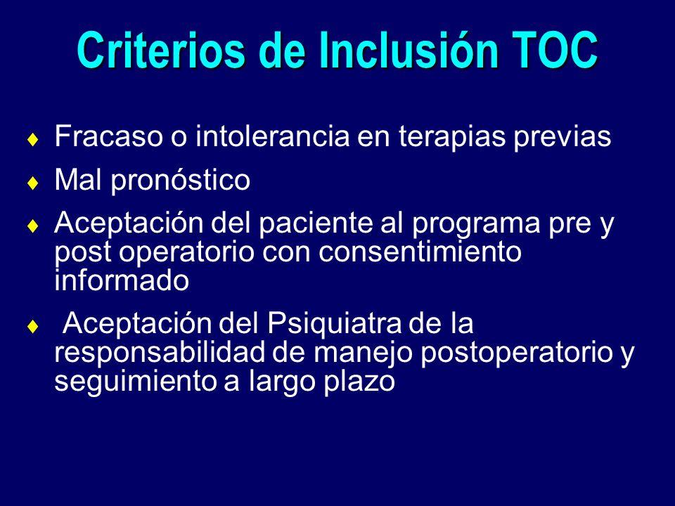 Criterios de Inclusión TOC