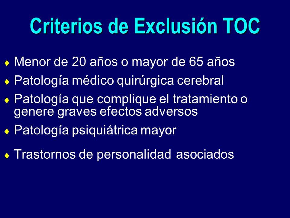 Criterios de Exclusión TOC