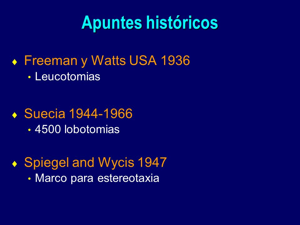 Apuntes históricos Freeman y Watts USA 1936 Suecia 1944-1966