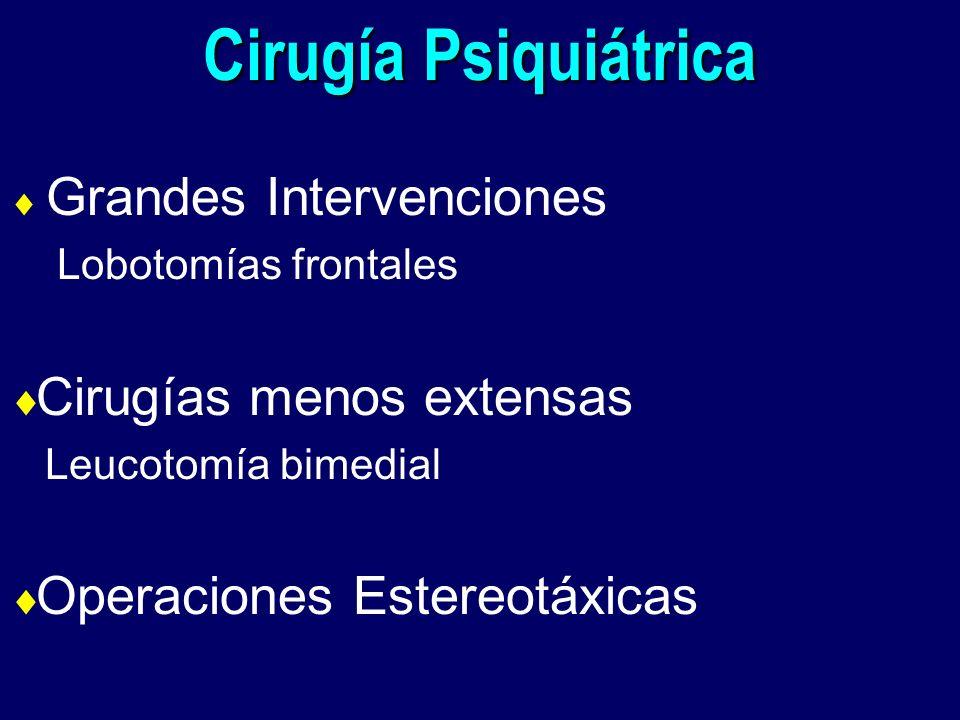 Cirugía Psiquiátrica Cirugías menos extensas