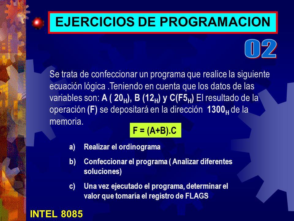 EJERCICIOS DE PROGRAMACION