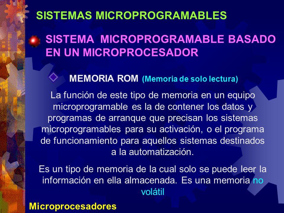 SISTEMAS MICROPROGRAMABLES