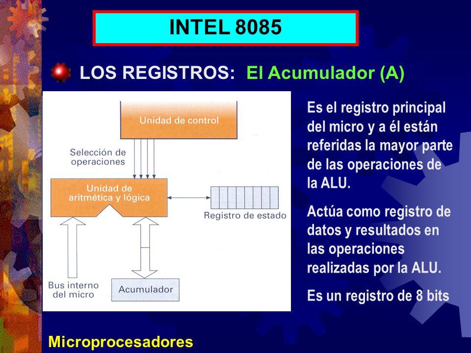 INTEL 8085 LOS REGISTROS: El Acumulador (A)