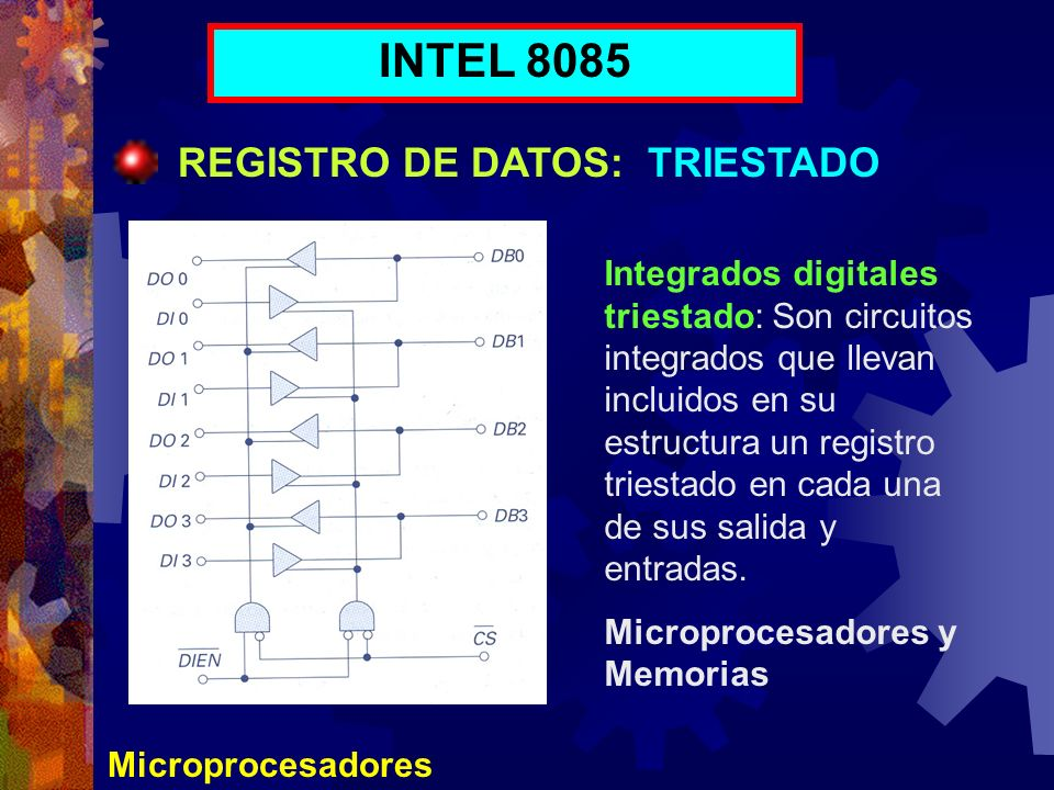 INTEL 8085 REGISTRO DE DATOS: TRIESTADO