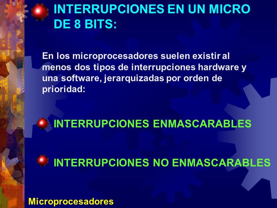 INTERRUPCIONES EN UN MICRO DE 8 BITS: