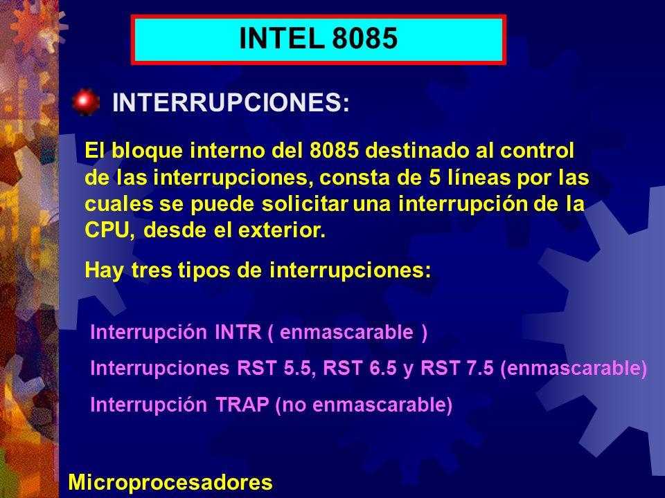INTEL 8085 INTERRUPCIONES: