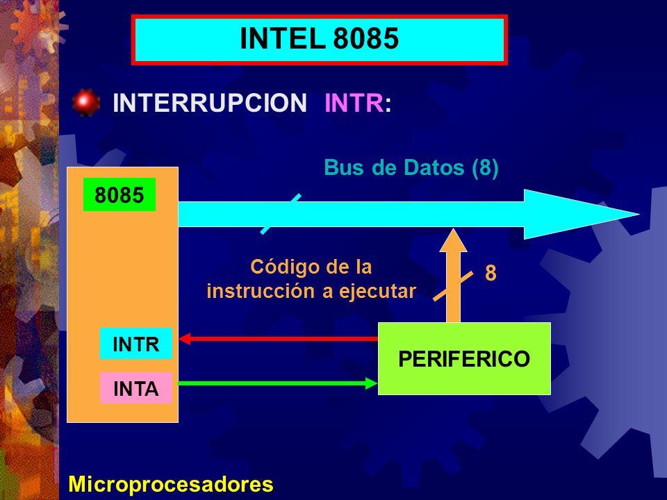 Código de la instrucción a ejecutar