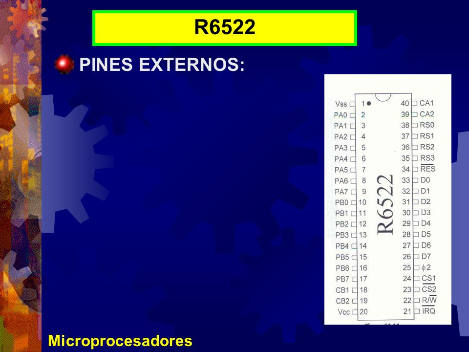 R6522 PINES EXTERNOS: Microprocesadores