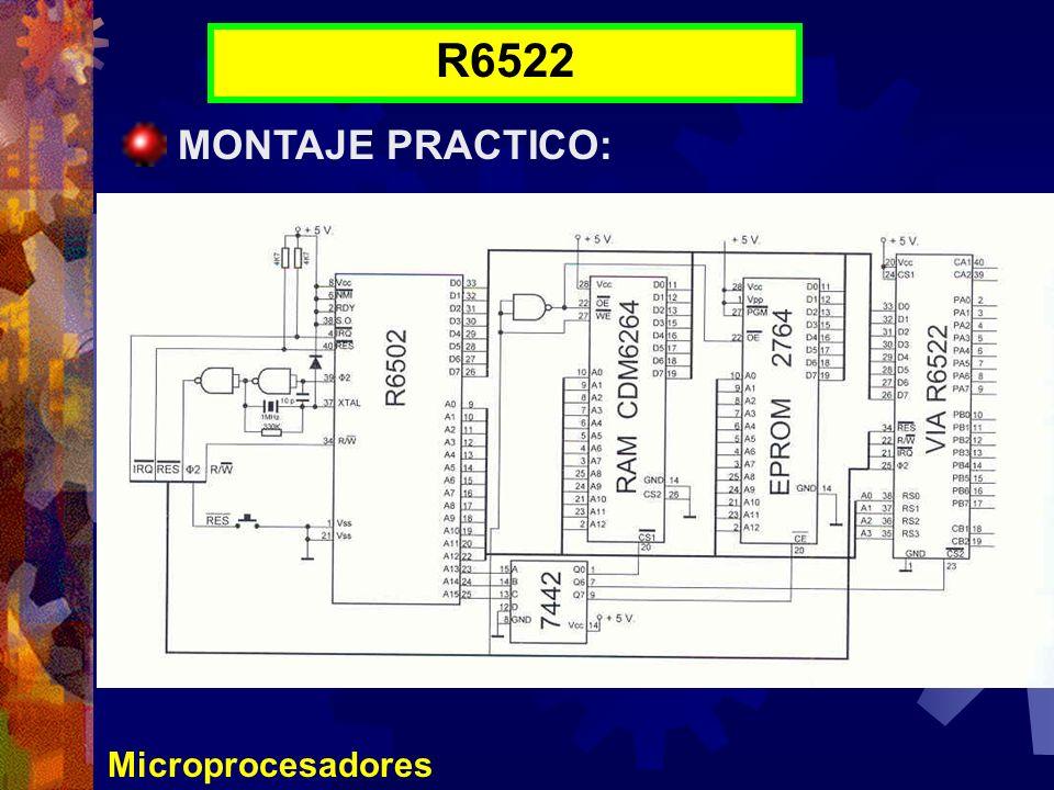 R6522 MONTAJE PRACTICO: Microprocesadores