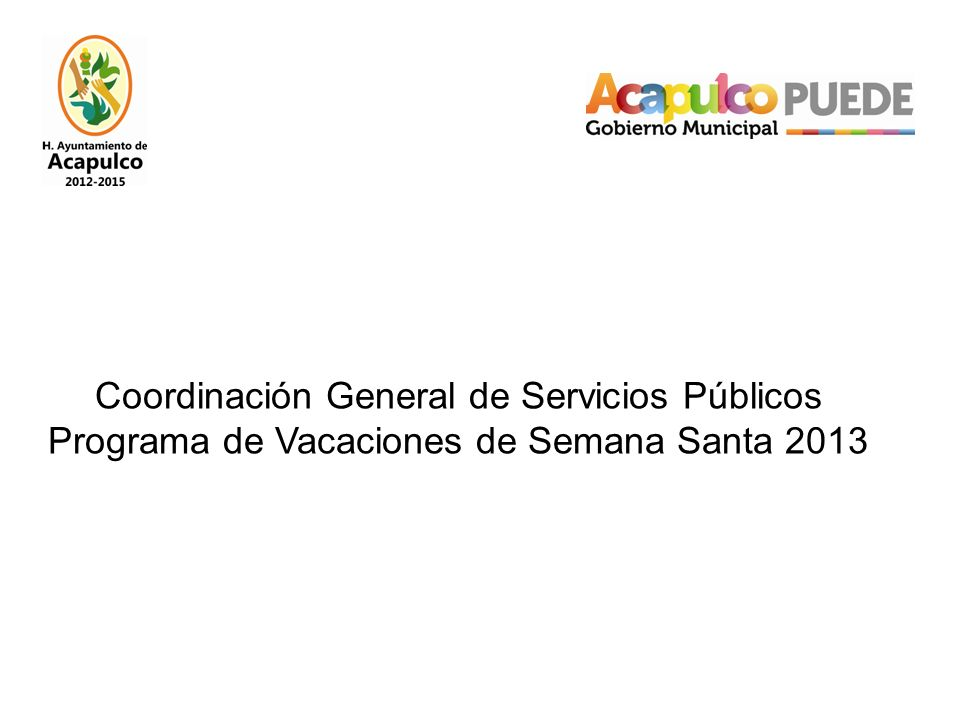 Coordinación General de Servicios Públicos