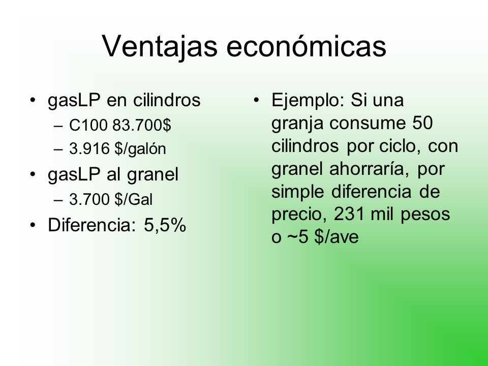 Ventajas económicas gasLP en cilindros gasLP al granel