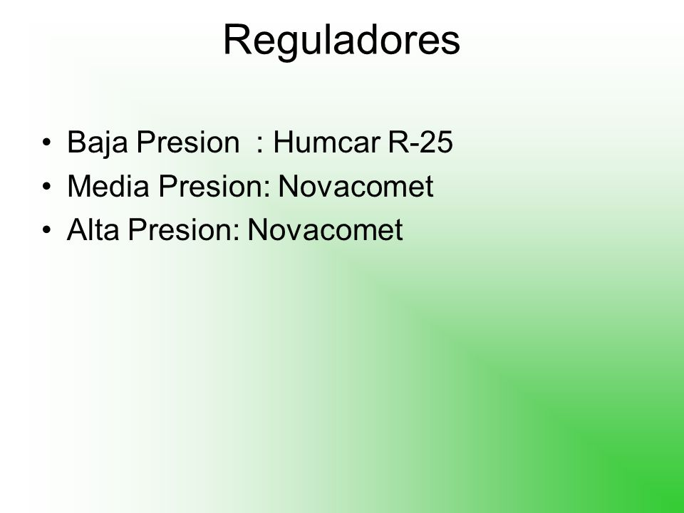 Reguladores Baja Presion : Humcar R-25 Media Presion: Novacomet