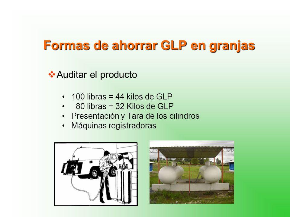 Formas de ahorrar GLP en granjas