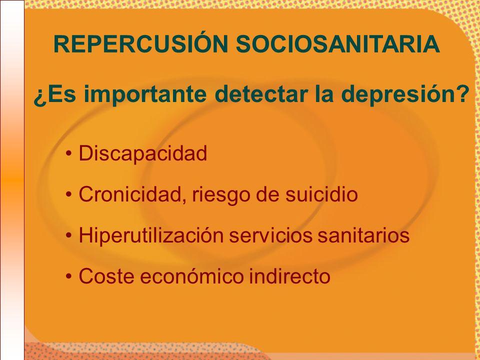 REPERCUSIÓN SOCIOSANITARIA