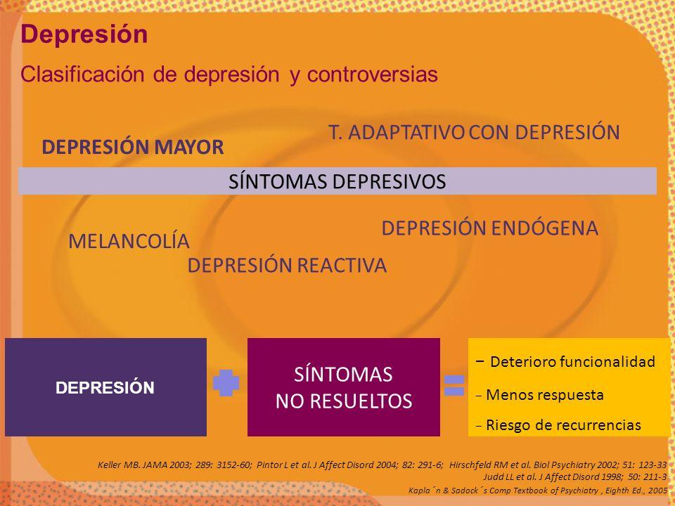 Depresión Clasificación de depresión y controversias