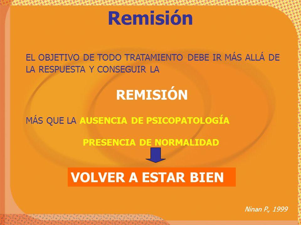 Remisión VOLVER A ESTAR BIEN REMISIÓN