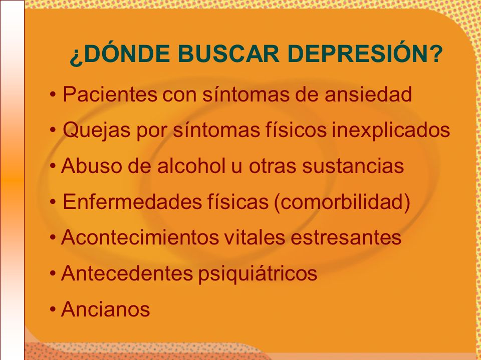 ¿DÓNDE BUSCAR DEPRESIÓN