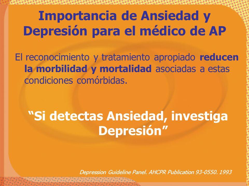 Importancia de Ansiedad y Depresión para el médico de AP