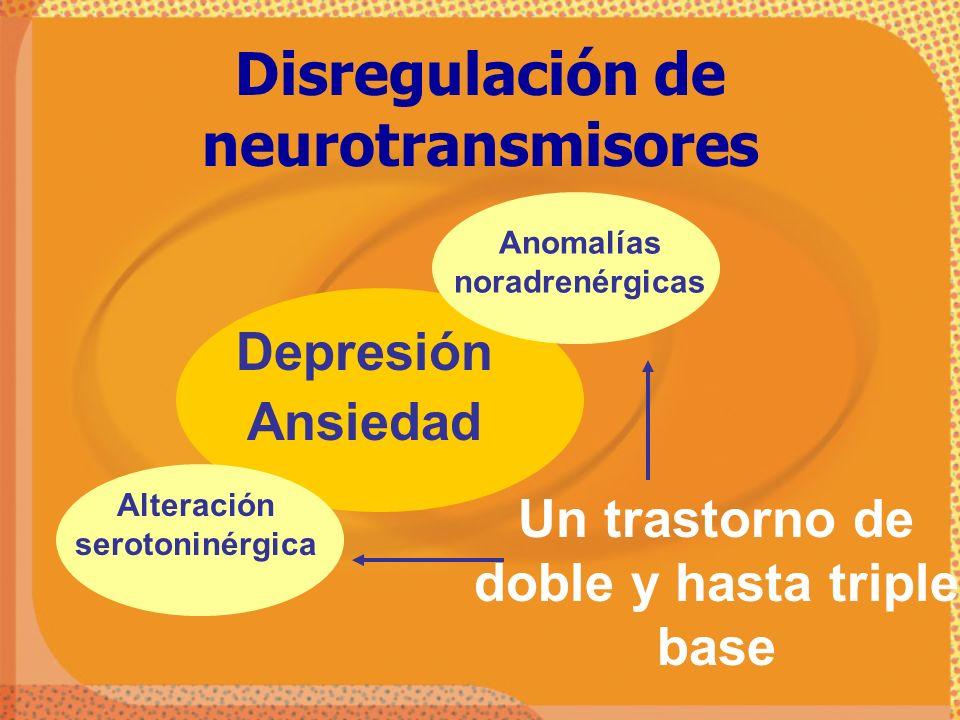 Disregulación de neurotransmisores
